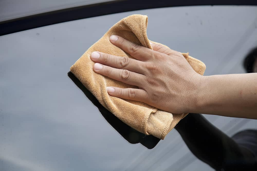 Hand Waxing Car
