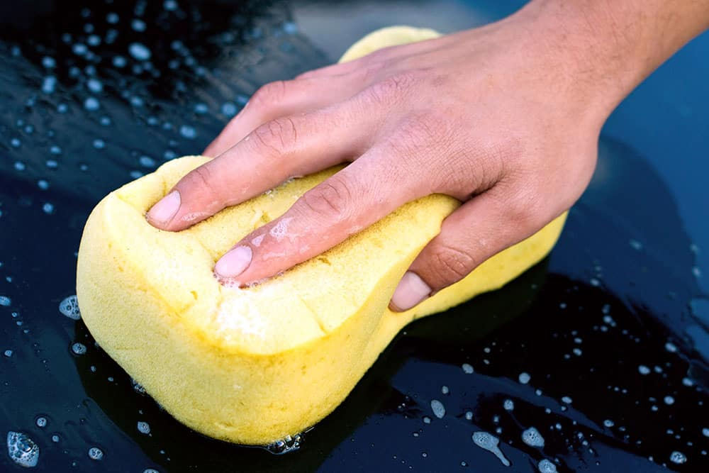 Soapy Sponge Washing Car