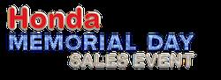 Honda Memorial Day Sales Event