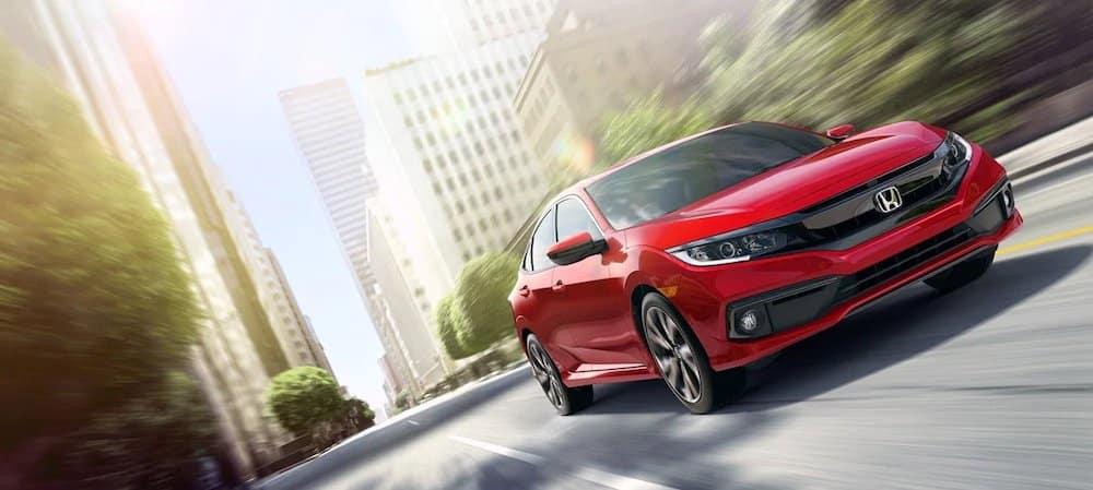 2019 Honda Civic Sedan on the road