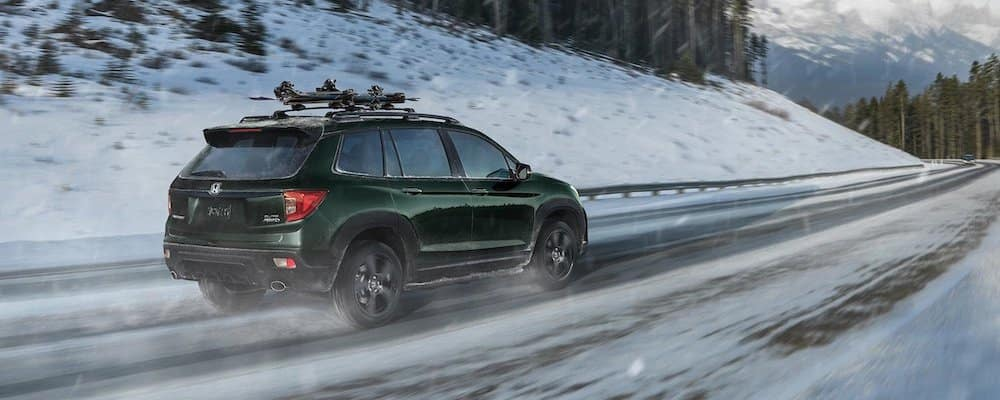 2019 Honda Passport in the snow