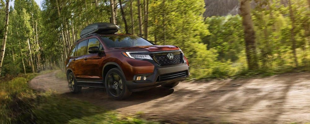 2019 Honda Passport on the trail
