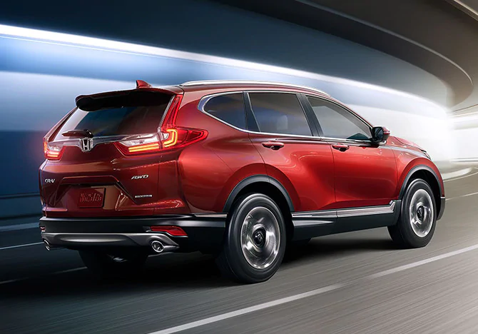 2019 CR-V on the road