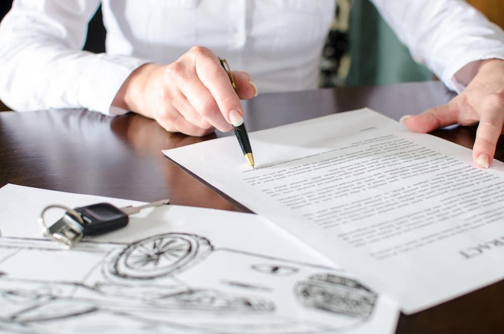 Reviewing financing paperwork