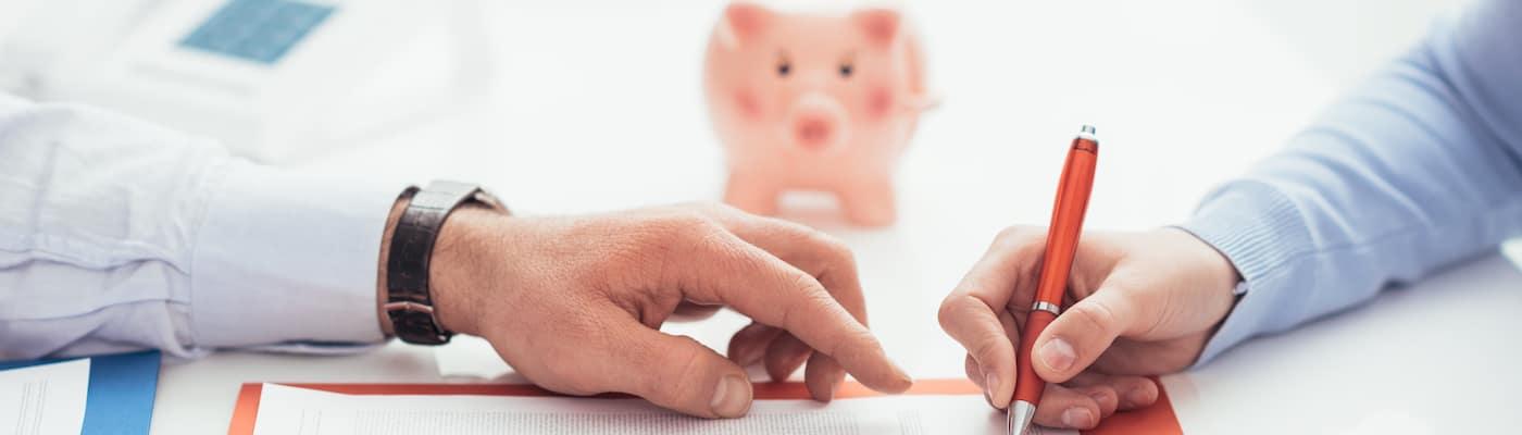Signing financing paperwork