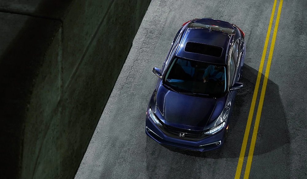 2019 Civic Sedan from above