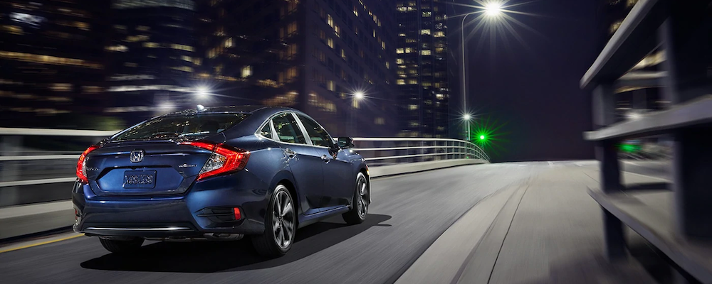 2019 Honda Civic Sedan driving at night
