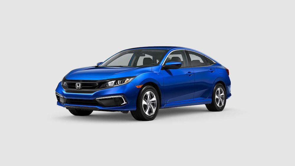 2020 Civic Sedan Aegean Blue Metallic