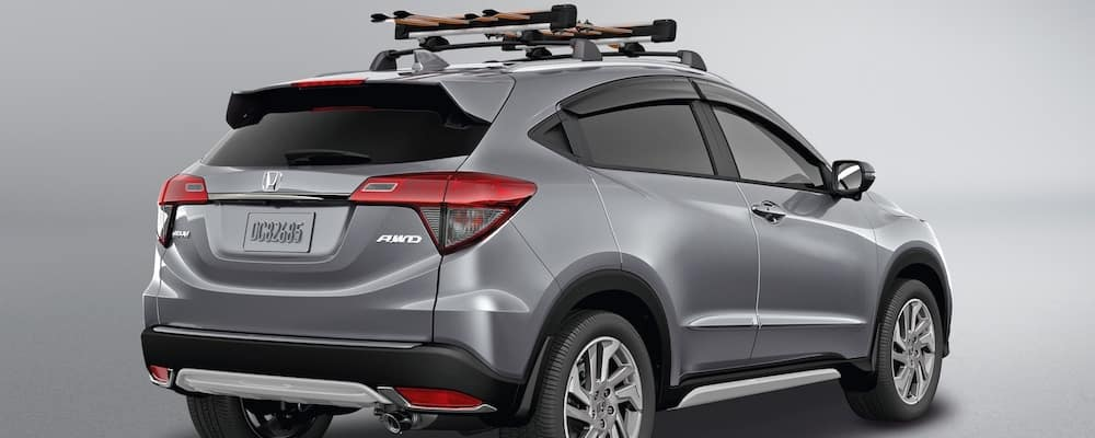 Silver 2019 Honda HR-V with Roof Rack