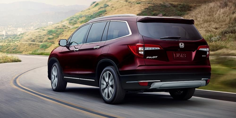 Maroon 2020 Honda Pilot on Highway