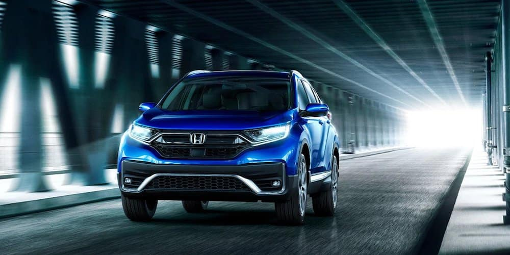 Blue 2020 Honda CR-V Touring on Bridge