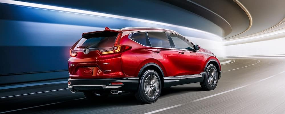Red 2020 AWD Honda CR-V in Tunnel