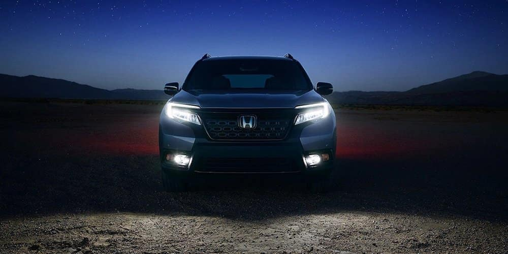 Honda Passport in Dark With Lights On
