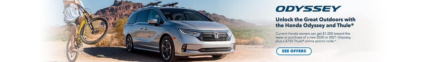 Unlock the great outdoors with the Honda Odyssey & Thule