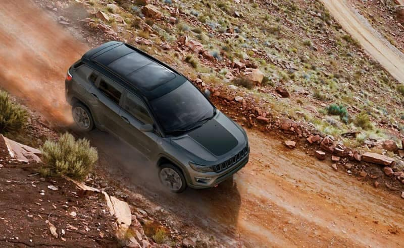 2019 Jeep Compass on dirt road