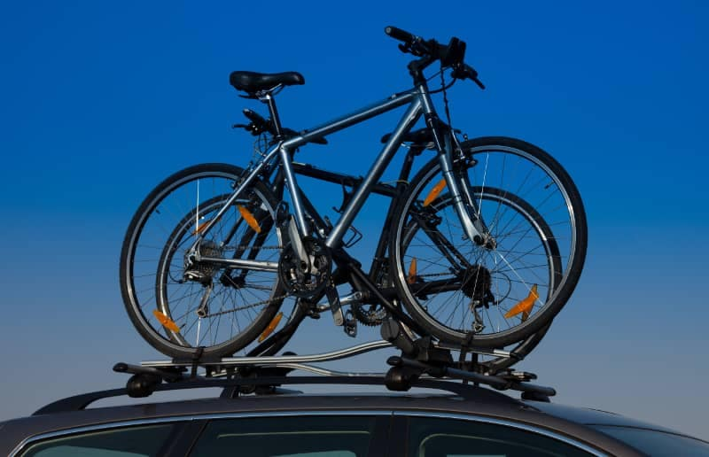 bike on suv roof rack