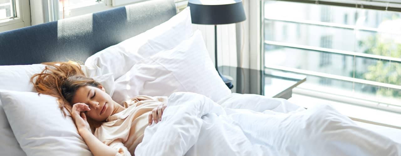 women sleeping in hotel