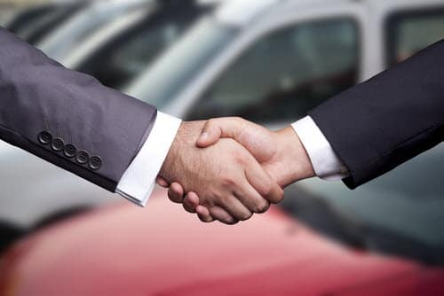 handshaking for used car