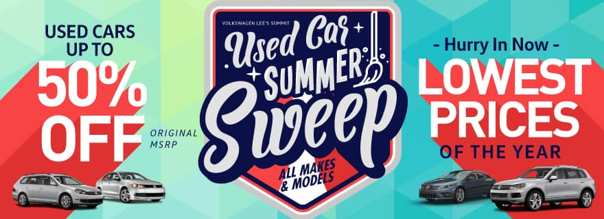 Used Cars up to 50% off Volkswagen Lee's Summit