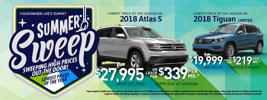 VW Lee's Summit Summer Sweep Sale Tiguan and Atlas