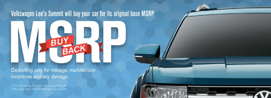 MSRP Buy Back Sale at Volkswagen Lee's Summit