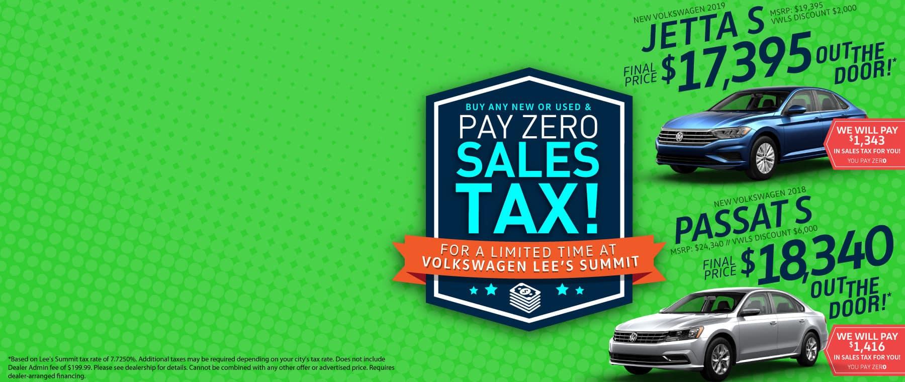Zero Sales Tax Volkswagen Lee's Summit