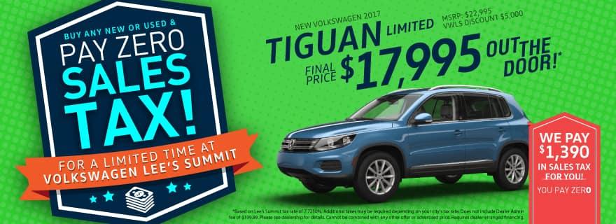 No Sales Tax Tiguan Slider