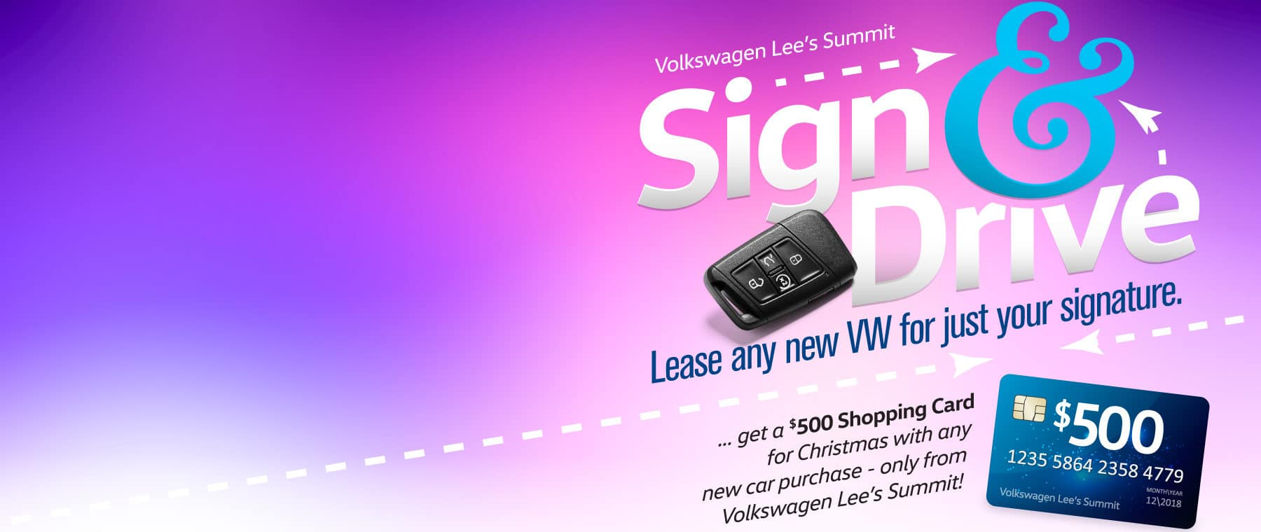 Lease any new car for just your signature at VW Lee's Summit!