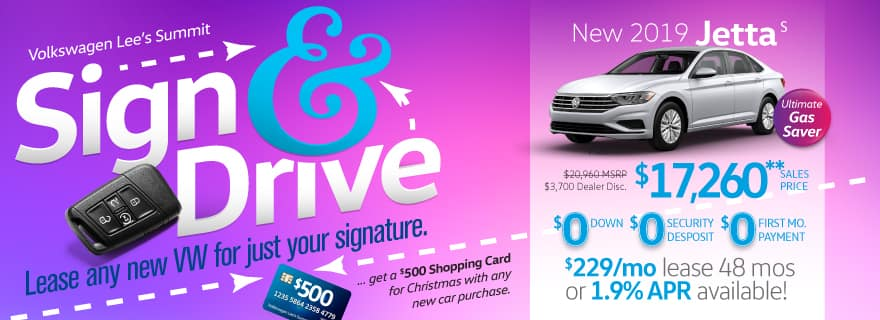 Pay Zero down and Zero next month's during Sign & Drive!