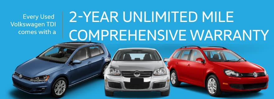 Lee's Summit TDI Used Cars 2 Years Unlimited Mile Warranty
