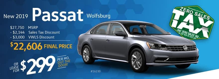 Volkswagen Lee's Summit will AXE your Tax on a 2019 Passat
