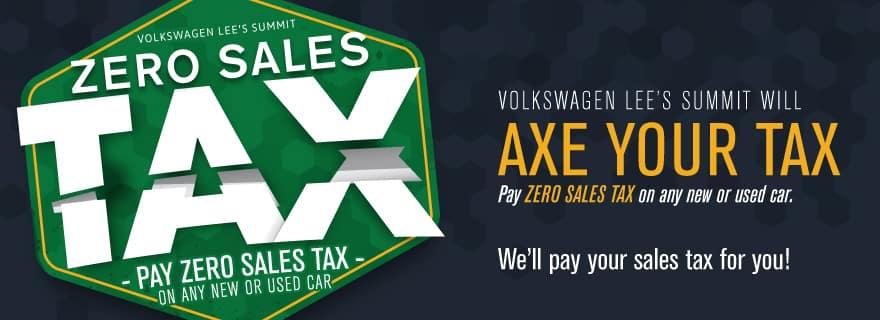 Volkswagen Lee's Summit will AXE your Tax!