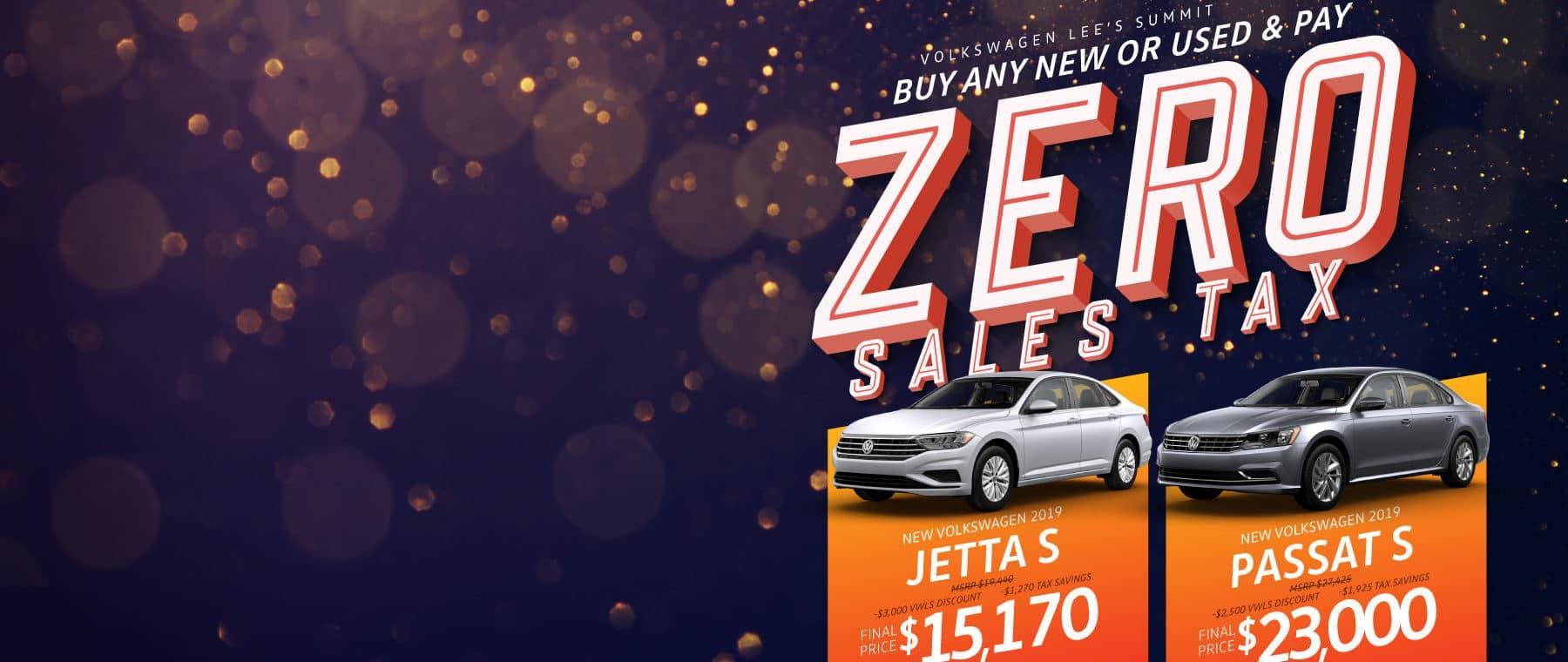 Pay Zero Sales Tax at Volkswagen Lee's Summit