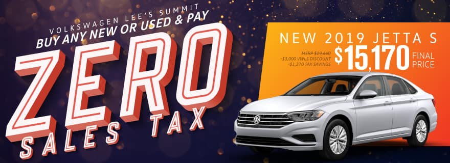 Pay Zero Sales Tax on the new 2019 Jetta at Volkswagen Lee's Summit
