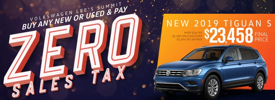 Pay Zero Sales Tax on the new 2019 Tiguan at Volkswagen Lee's Summit