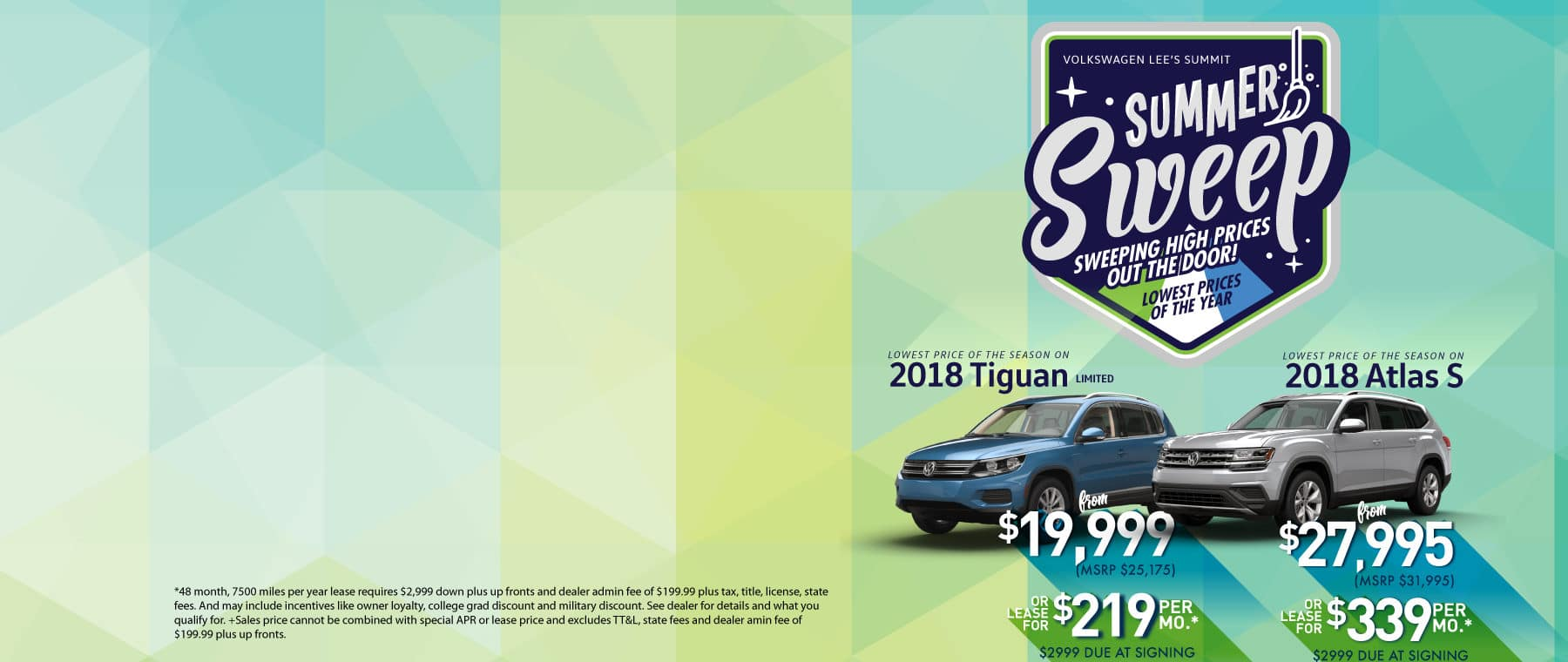 Tiguan and Atlas Summer Sweep Sale