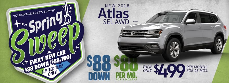 Get a 2019 Atlas for $88 down and $88/mo for first 3 months!
