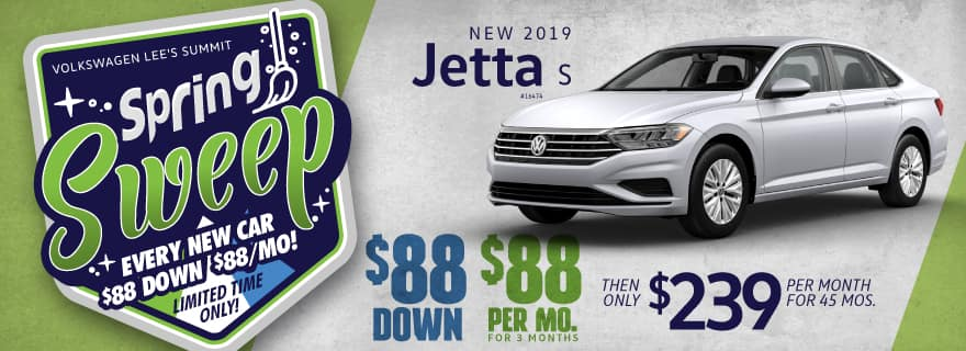 Get a 2019 Jetta for $88 down and $88/mo for the first 3 months!