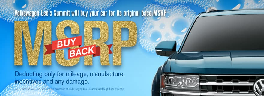 Don't miss our MSRP Buy Back Sale at Volkswagen Lee's Summit