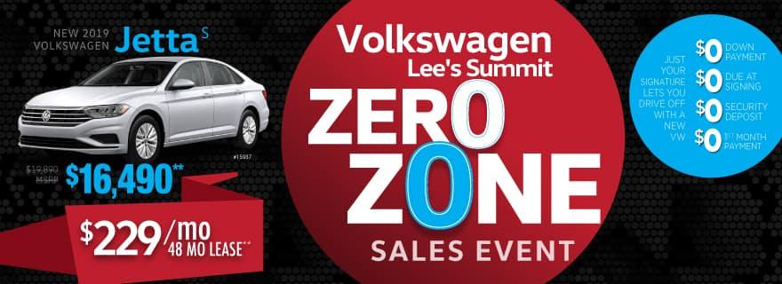 2019 Jetta Zero Down Lease at Volkswagen Lee's Summit