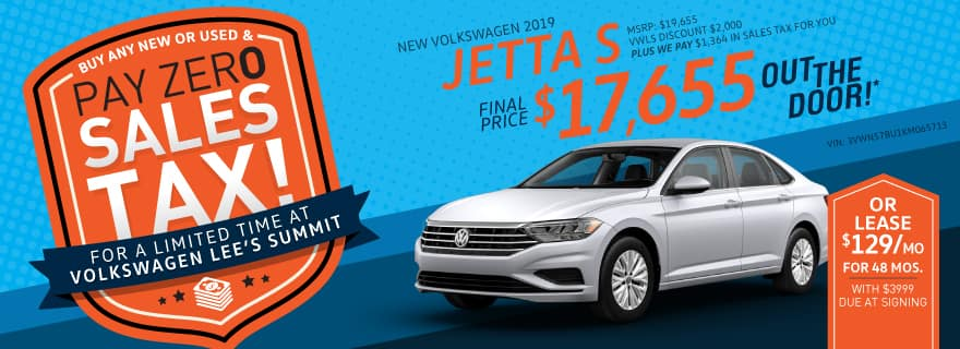 Jetta Special No Sales Tax Lee's Summit