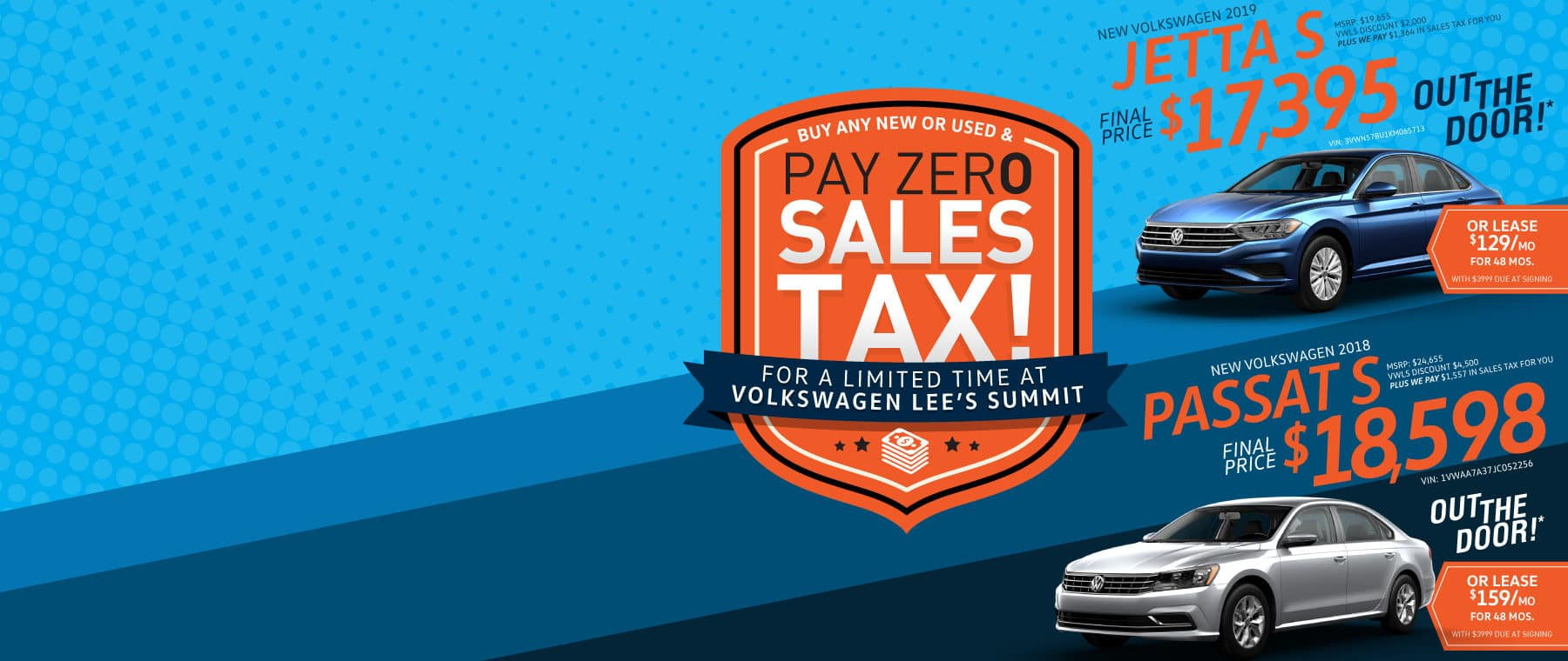 Pay Zero Sales Tax at Volkswagen Lee's Summit