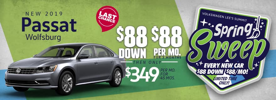 VW Lee's Summit Passat $88 down Spring Sweep Sale
