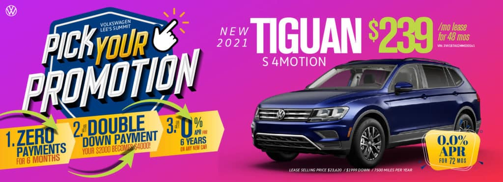 Pick your promotion at Volkswagen Lee's Summit on this Tiguan.
