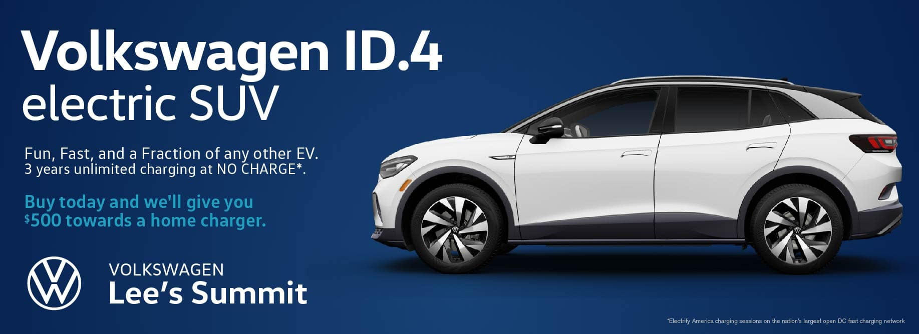 The electric vehicle for everyone is here. Reserve your ID.4 EV at Volkswagen Lee's Summit