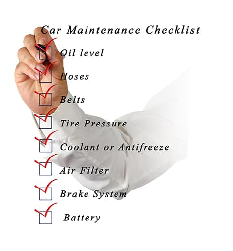 Summer Vehicle Maintenance  Checklist