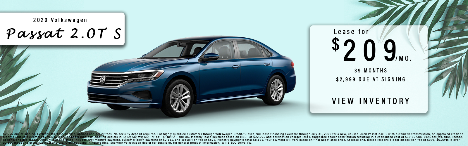 passat lease offer