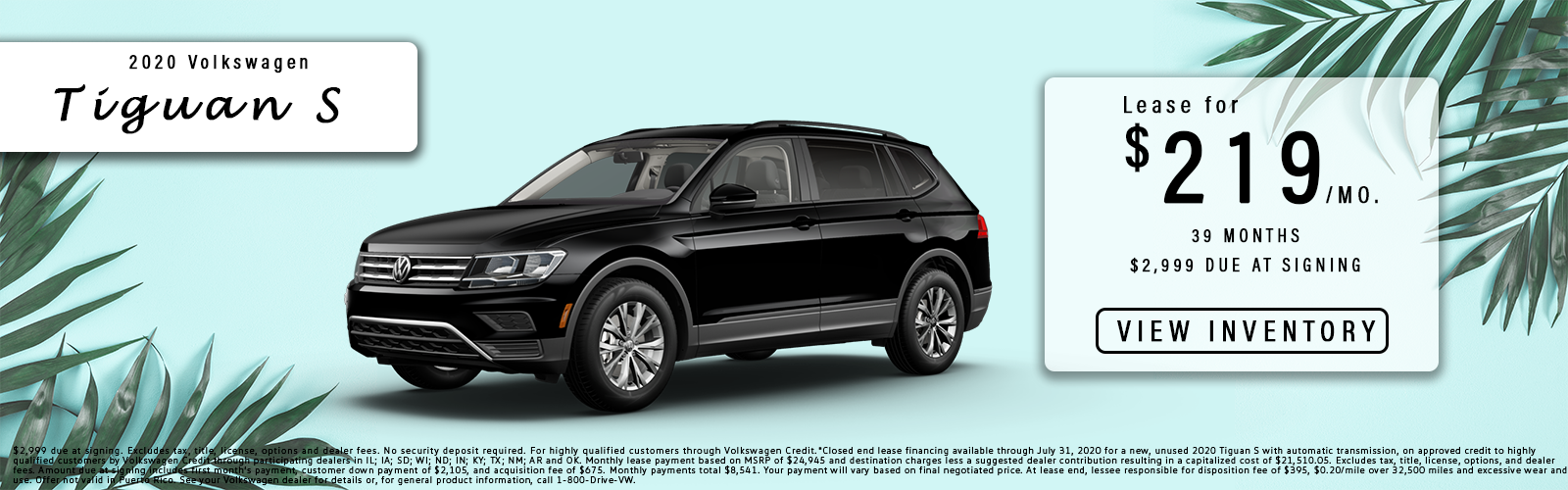 Tiguan lease offer