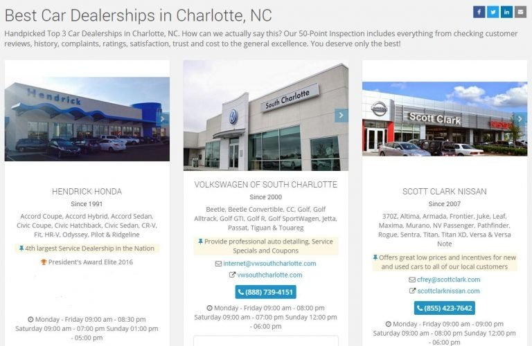 Volkswagen of South Charlotte Listed as a Top 3 Dealership