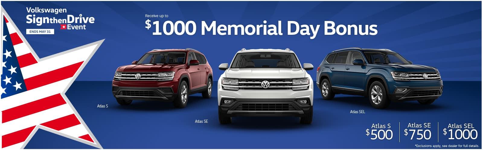 Volkswagen Memorial Day Sales Event